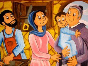 MANYANET CON LA SAGRADA FAMILIA (DIBUJO) Internet